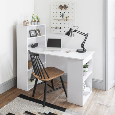 White Desk with Shelves - Laura James