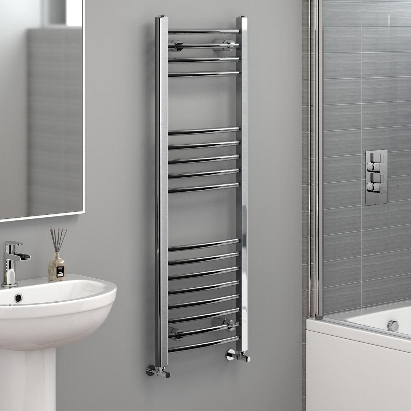 Heated Towel Rail in Chrome 1200x400mm