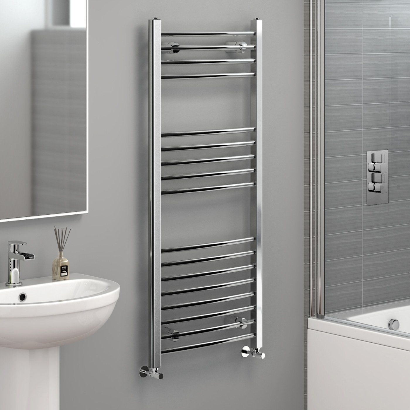 Heated Towel Rail in Chrome 1200x500mm