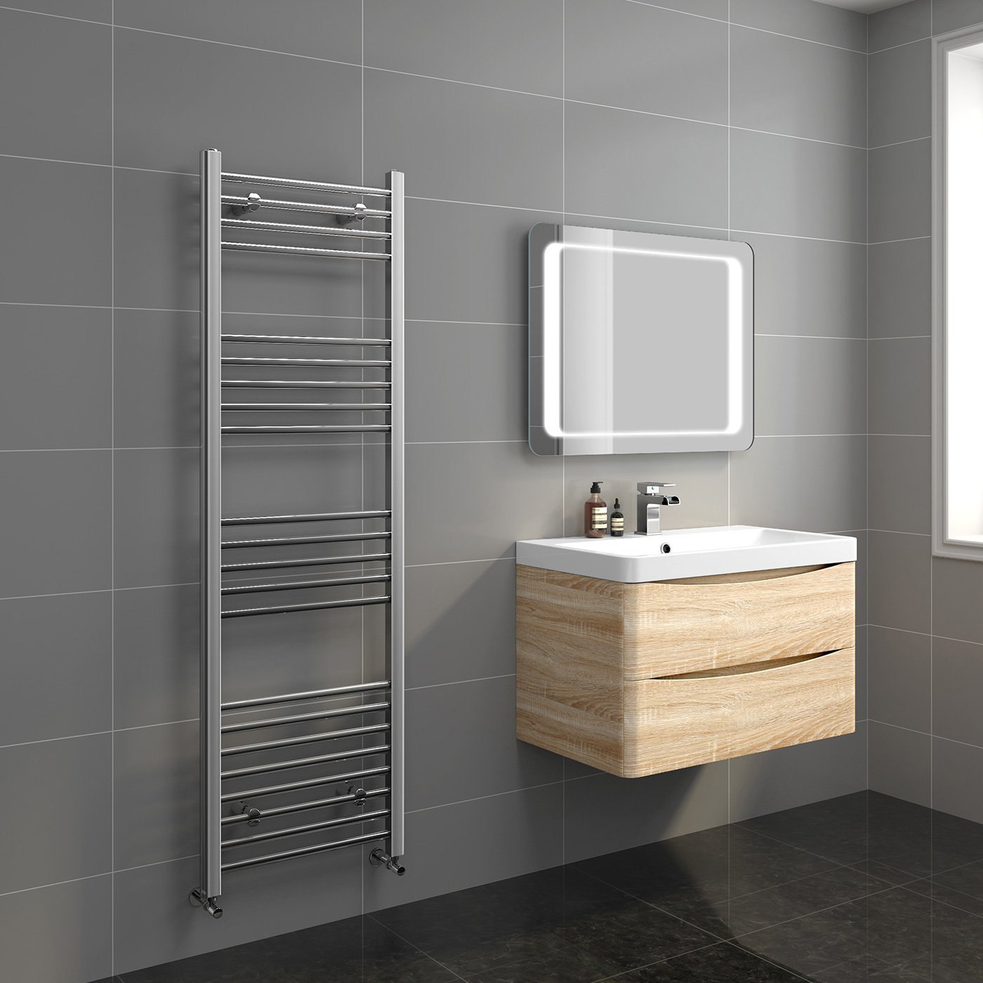 Heated Towel Rail in Chrome 1200x600mm
