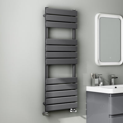 Heated Towel Rail in Anthracite Grey 1200mmx450mm