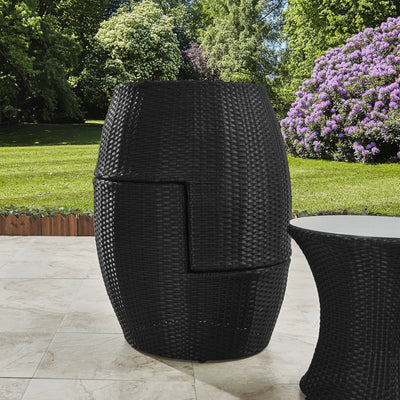 2 Seater Rattan Egg Chair Bistro Set - Black - In Stock Date - 16th June 2020 - Laura James