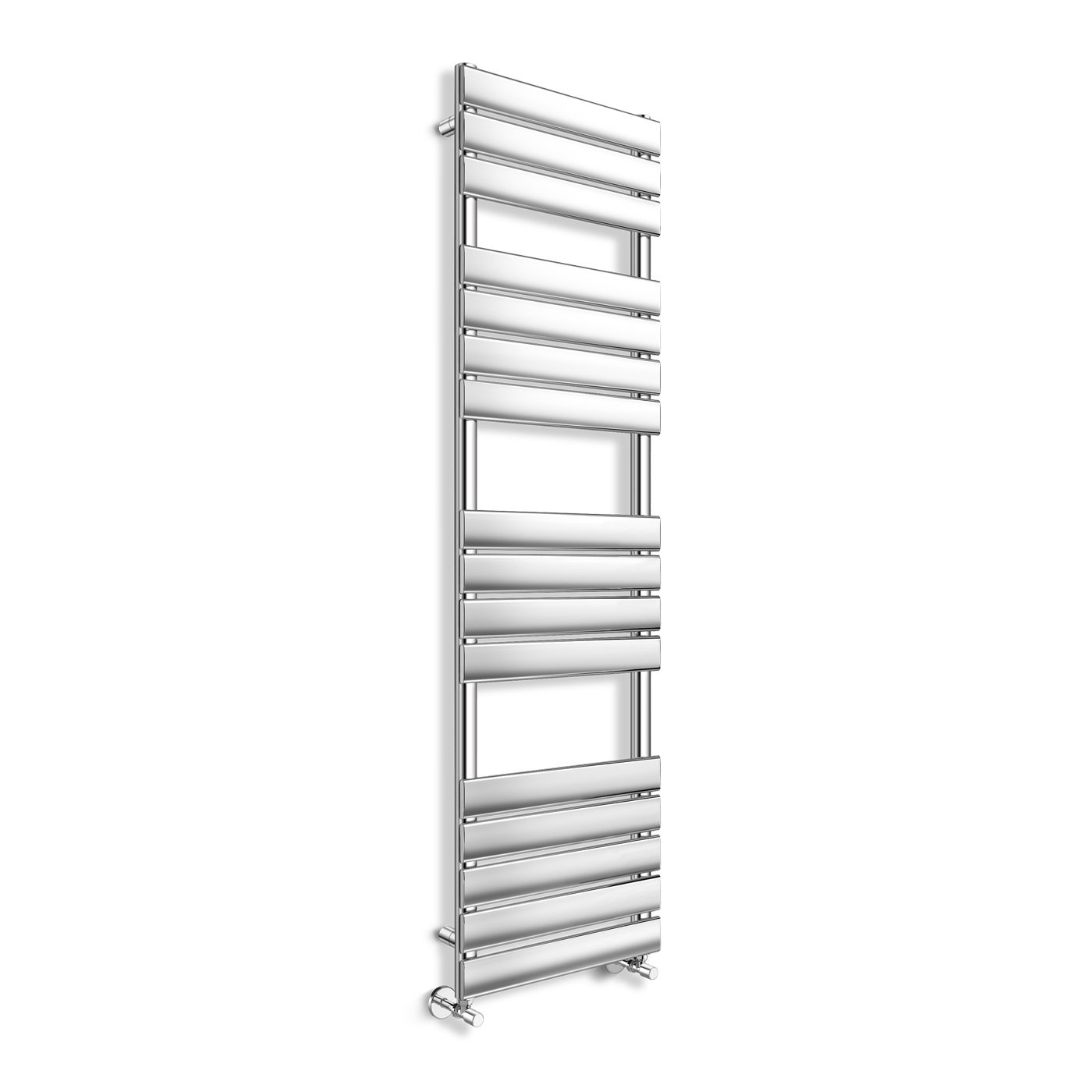 Chrome Flat Panel Ladder Towel Radiator