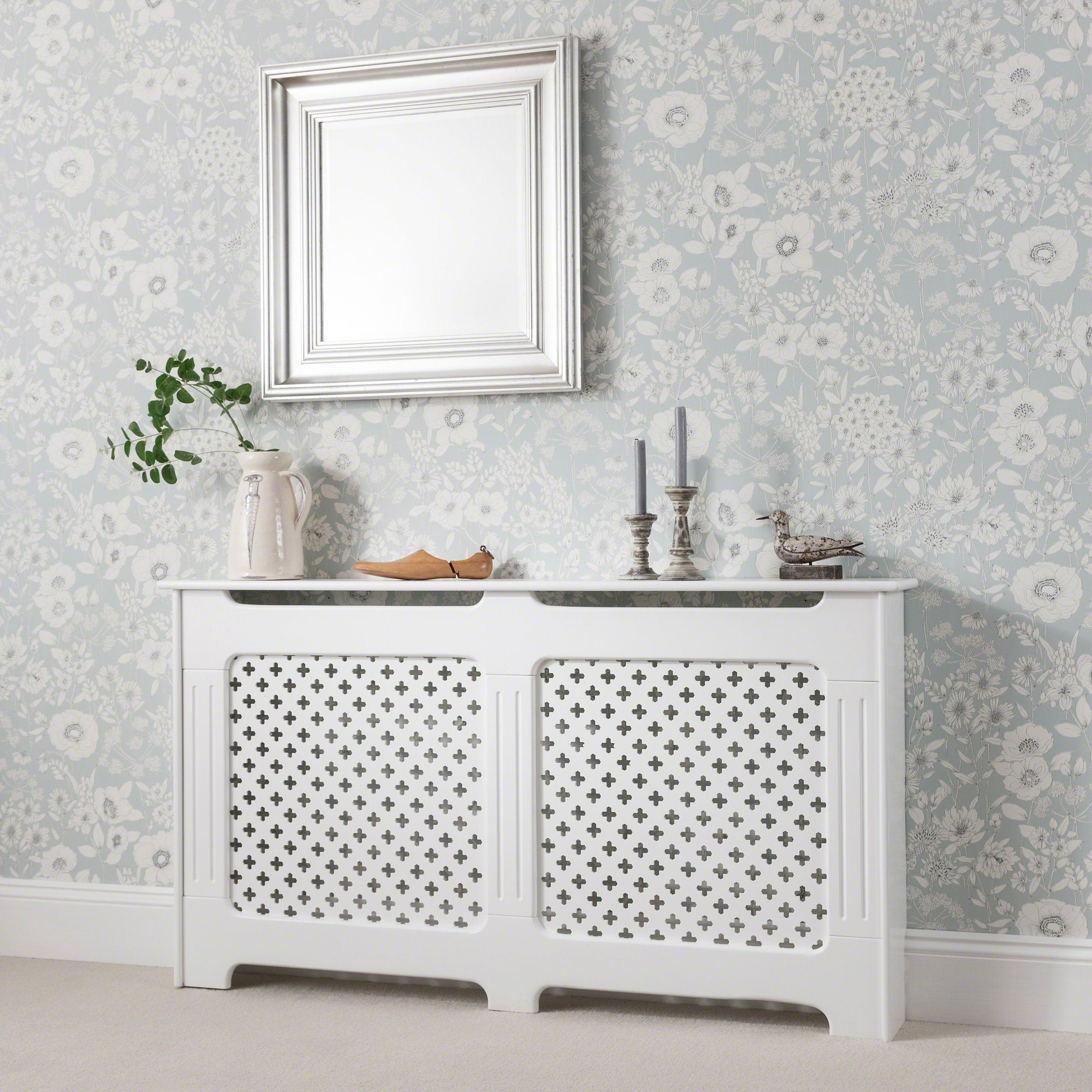 Radiator Cover - White Painted - Large - Laura James