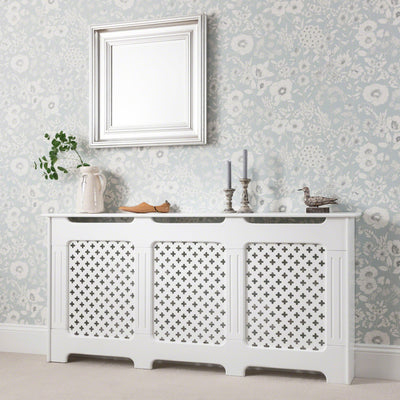 Radiator Cover White Painted - Extra Large - Laura James