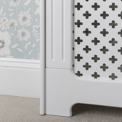 Radiator Cover White Painted Small - Laura James