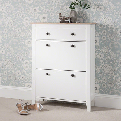 Shoe Cabinet Wooden Storage Cupboard - In Stock Date - 19th June 2020 - Laura James