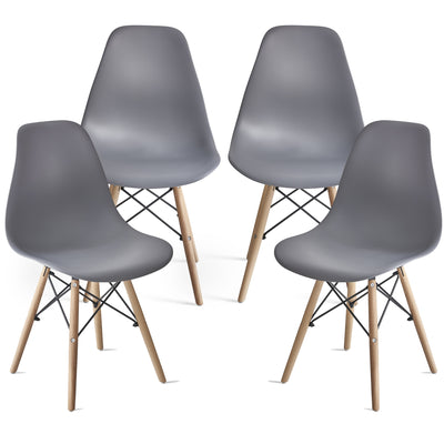 Inge Dark Grey Eames Inspired Chair x 4 - Laura James