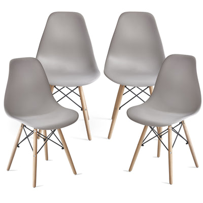 Inge Light Grey Eames Inspired Chair x 4 - Laura James