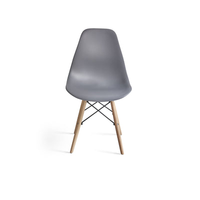 Inge Dark Grey Eames Inspired Chair x 1 - Laura James