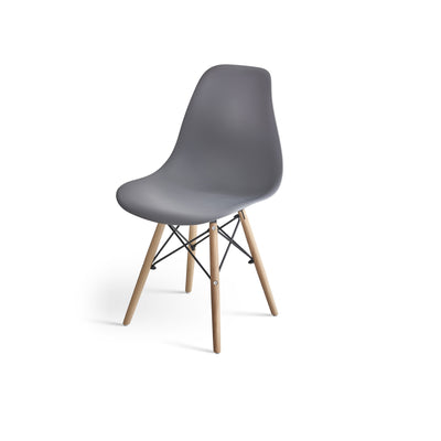 Inge Dark Grey Eames Inspired Chair x 6 - Laura James