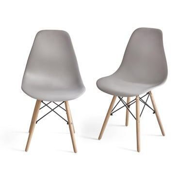Inge Light Grey Eames Inspired Chair x 2 - Laura James