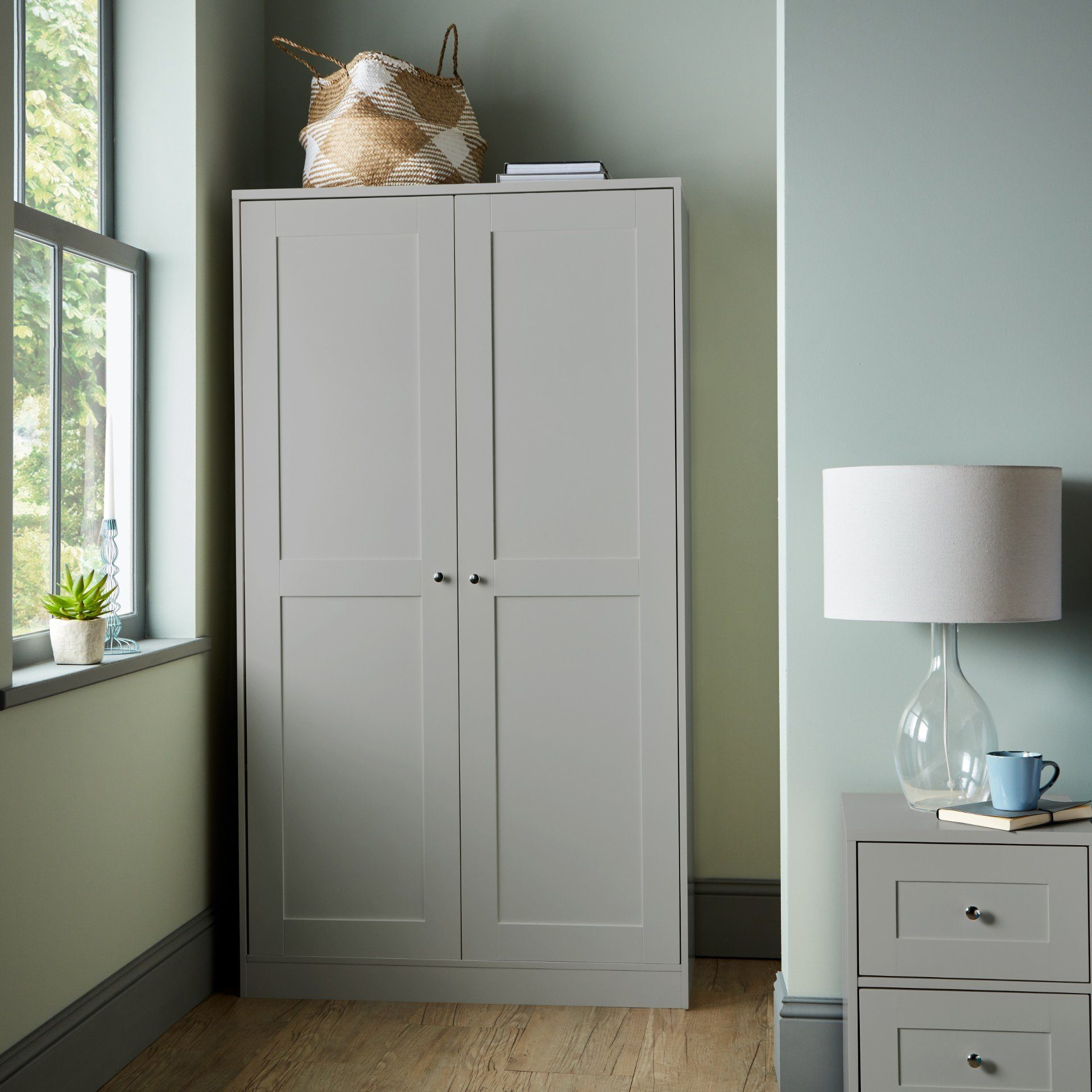 Stevie Shaker Style Wardrobe Grey - Laura James