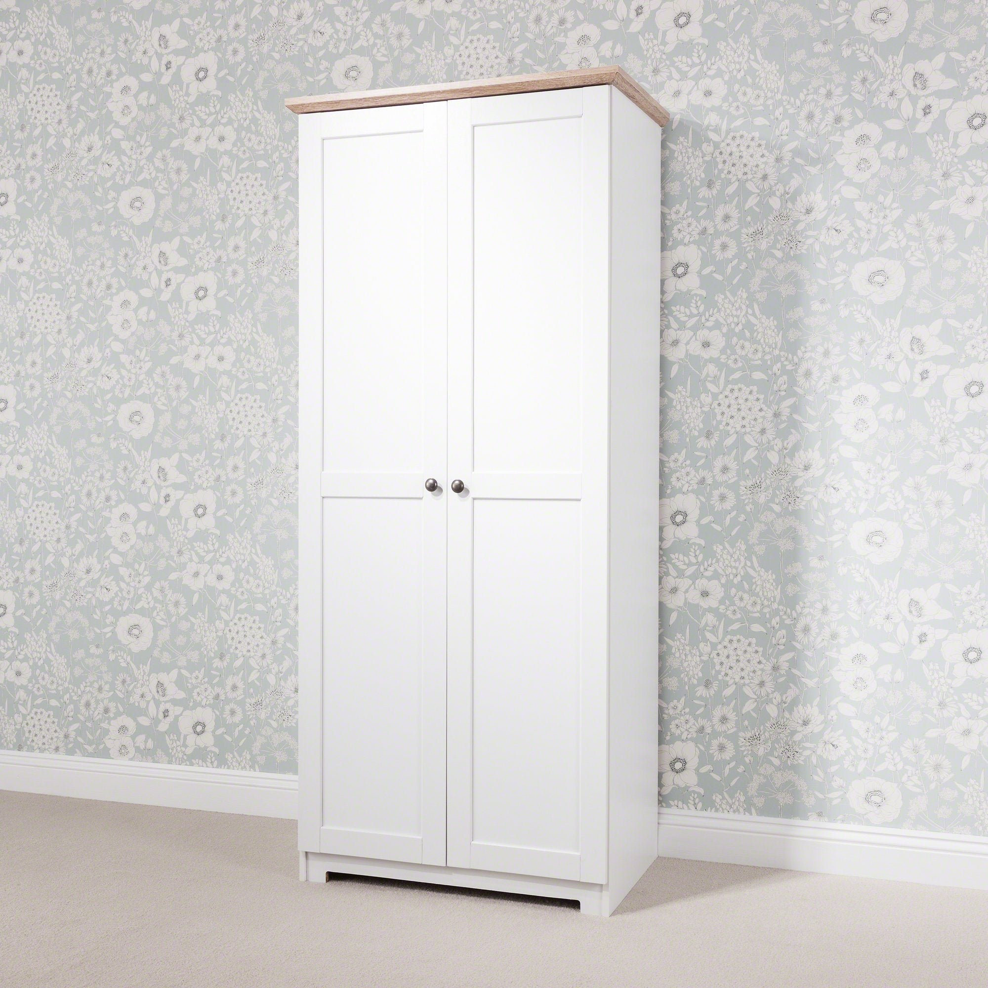 White Wardrobe 2 Doors - Laura James