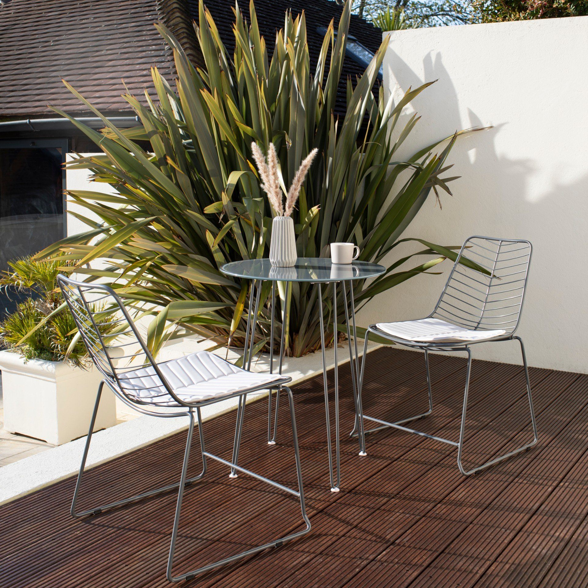 Bistro Set - Esme - Grey Wire - Laura James