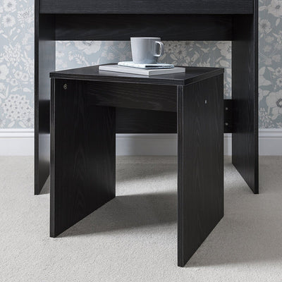 Laura James Dressing Table With Mirror And Stool Set (Black)   Laura James