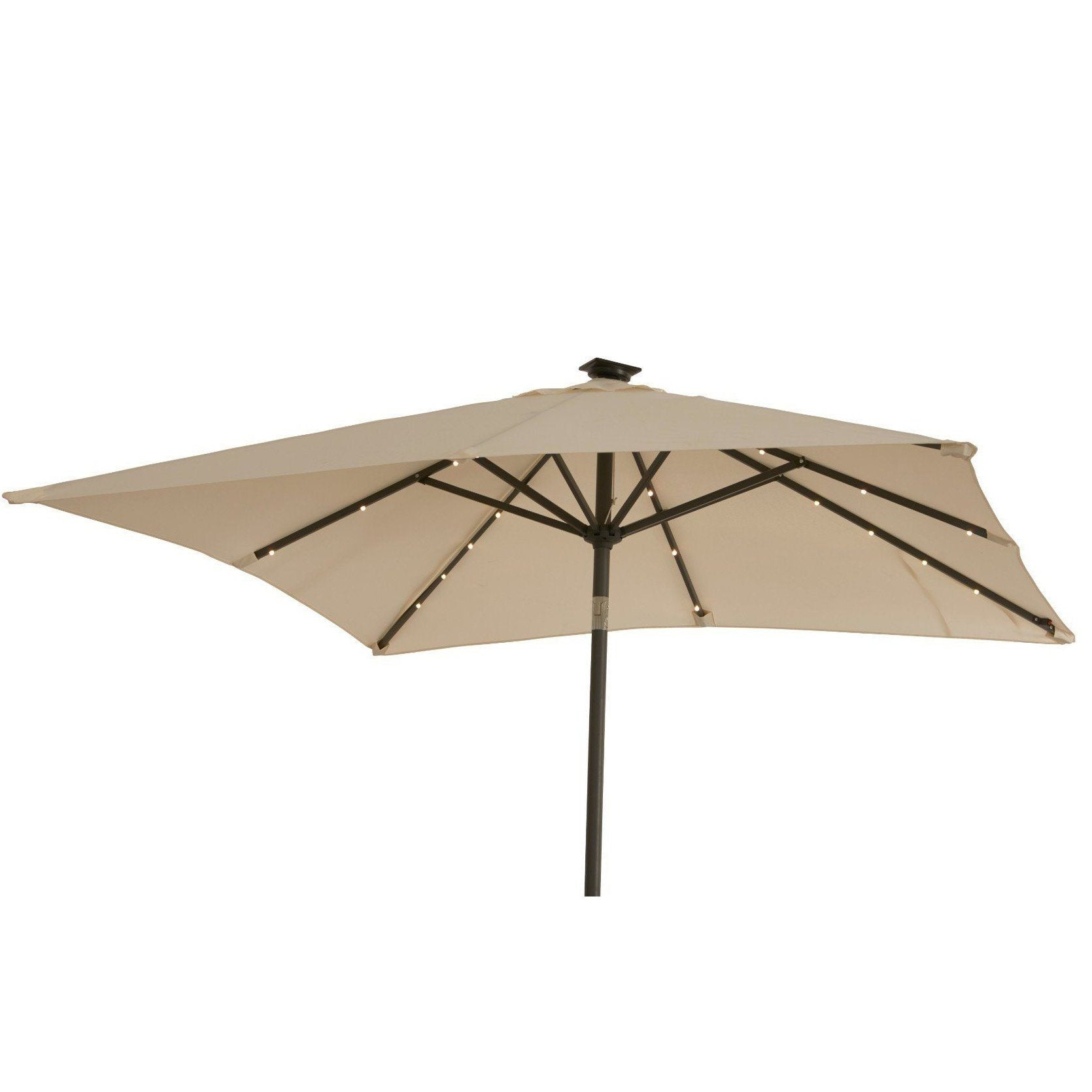 Premium LED 2x2m Square Parasol - Laura James