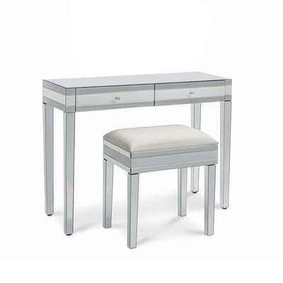 Aleanor Mirrored Dressing Table with Stool - Laura James
