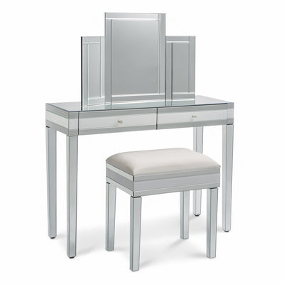 Aleanor Dressing Table, Stool and Tri-Fold Vanity Mirror - Laura James