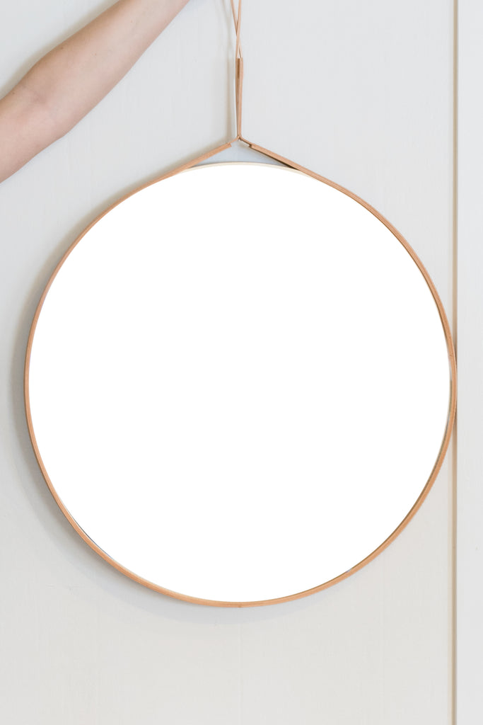 Leather Wrapped Mirror
