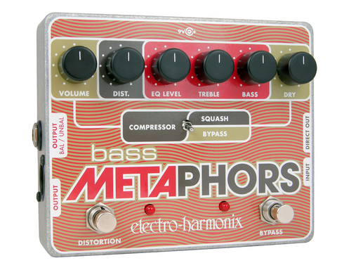 Electro-Harmonix Bass Metaphors Preamp/EQ/Distortion/Compressor/DI Multi-Effect Pedal