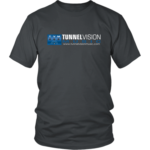 TunnelVision Music Logo Shirt Blue Logo