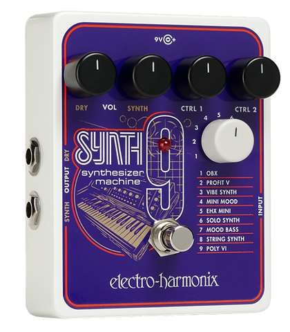 Electro-Harmonix SYNTH9 Synthesizer Machine Pedal Used Store Demo