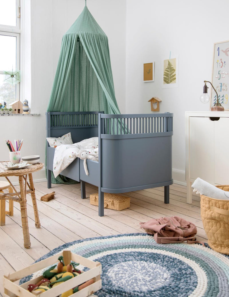 Ledikant en Juniorbed Kili Forest Lake Blue Sebra - Kidsbarn