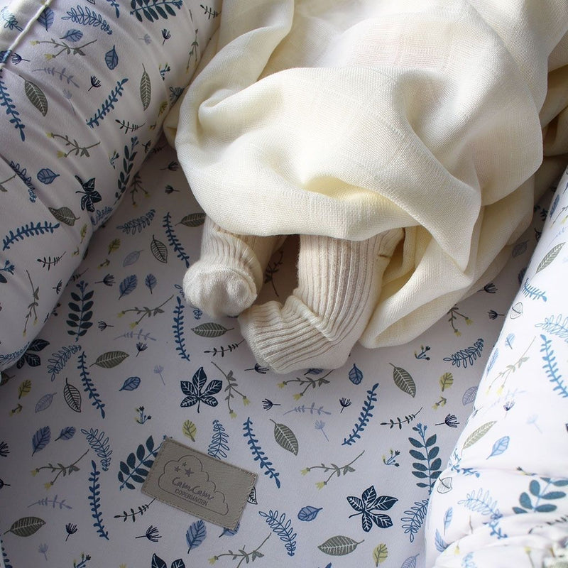 CamCam Baby Nest Pressed Leaves Blue
