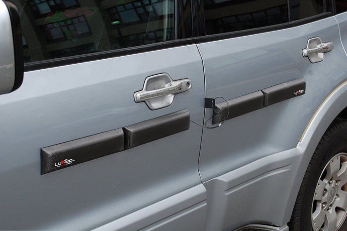 Ding Bats - Removable Magnetic Car Door Protectors (With Security Cables), Security/Anti-Theft Cables attached - set of 4 Magnetic Door Guards, Ding Bats by Luv-Tap, Luv-Tap