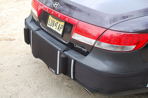 Luv-Tap BG002 - COMPLETE COVERAGE Universal Fit Rear Bumper Guard for Bumper Mounted Rear License Plate Vehicles - with Cut-out for License Plate, Rear Bumper Guard - for BUMPER MOUNTED rear licese plate vehicles, Luv-Tap, AutoAffectionProtection