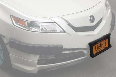 Bumper Thumper Ultimate Front Bumper Guard Shock Absorbing Flexible (License Plate Frame ONLY), License Plate Frame, Luv-Tap, Luv-Tap