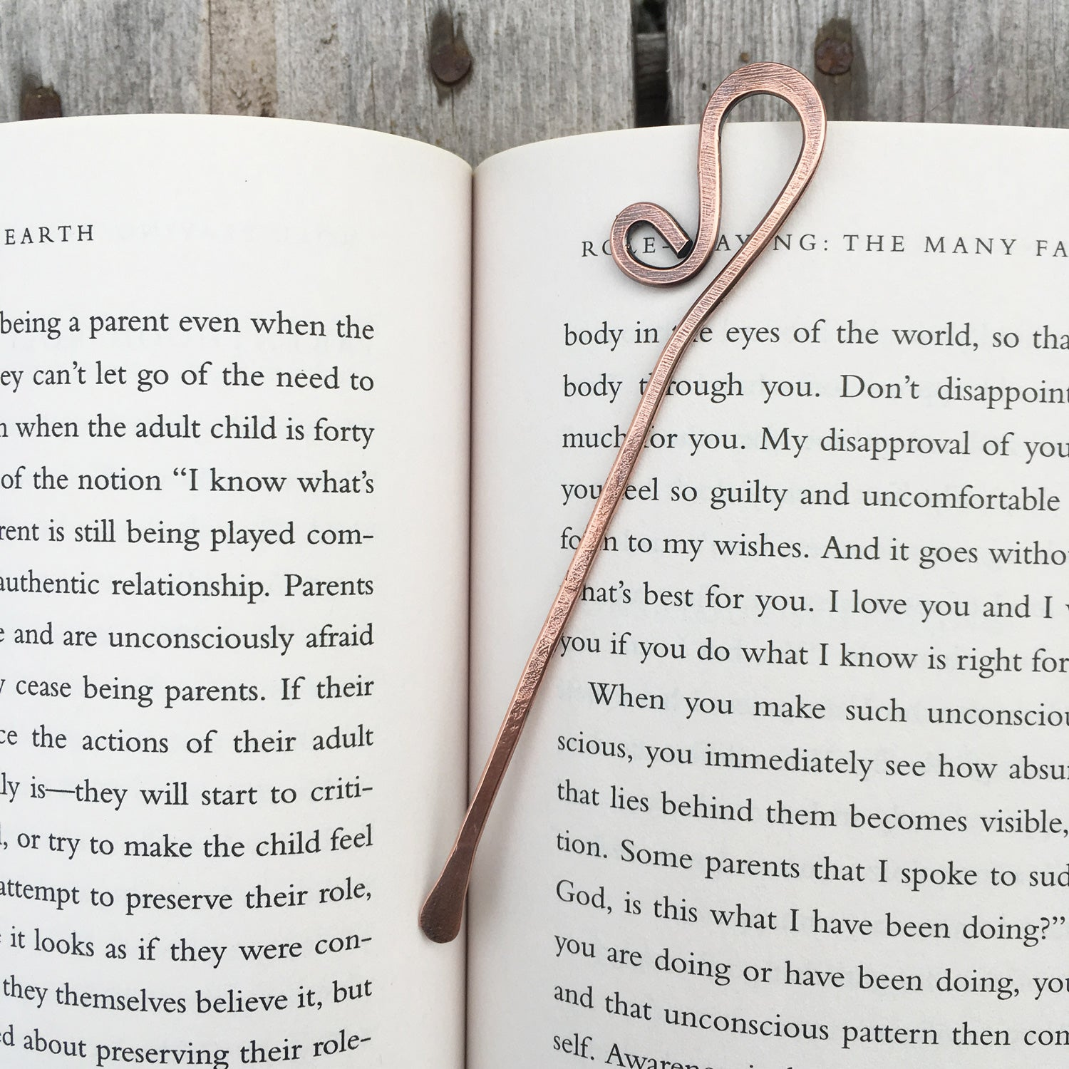 Copper Wire Bookmark Made With Recycled Electrical Studio 73