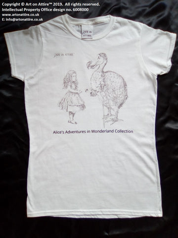 Women's dodo t-shirt Alice in Wonderland UK - Art on Attire™