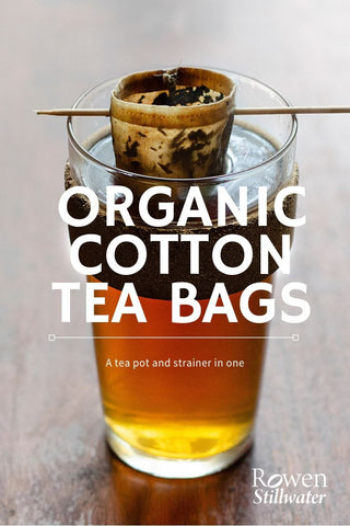 Zero waste reusable tea bags