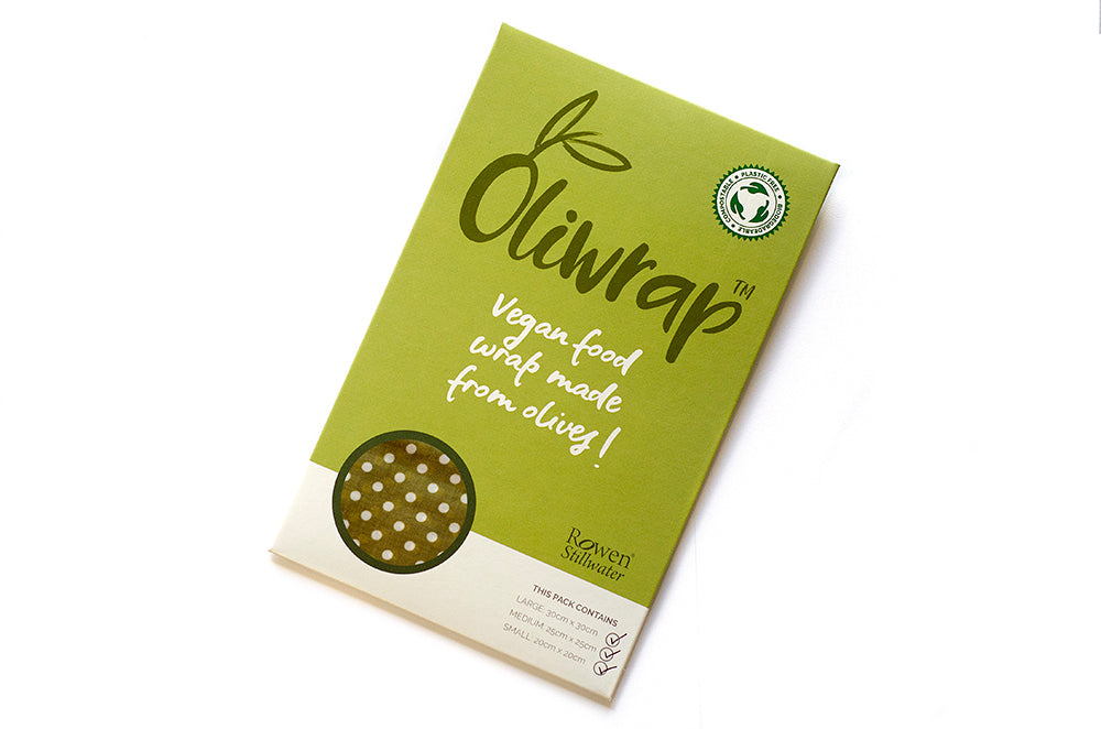 Oliwrap: Vegan food wrap in sage polka dot