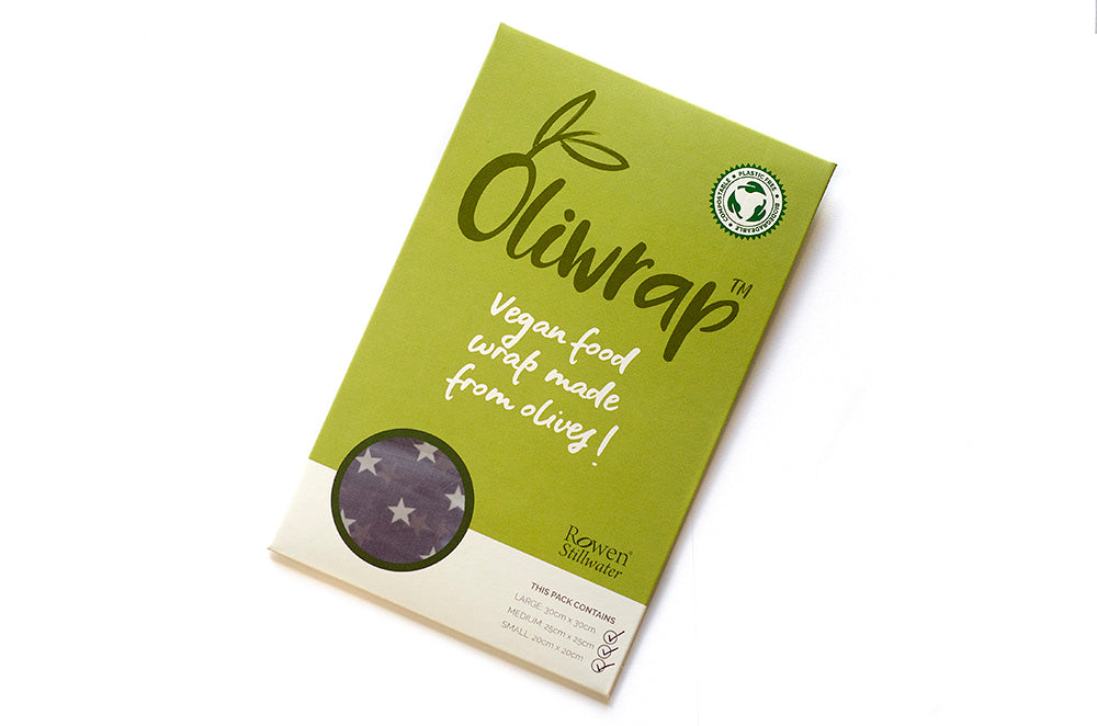 Oliwrap: Vegan Food wrap in grey star