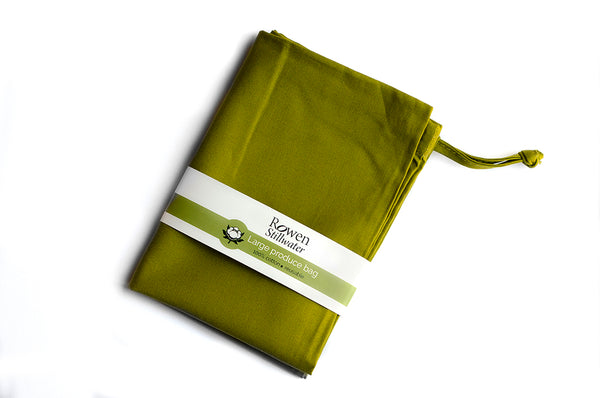 Large cotton storage bag in olive green