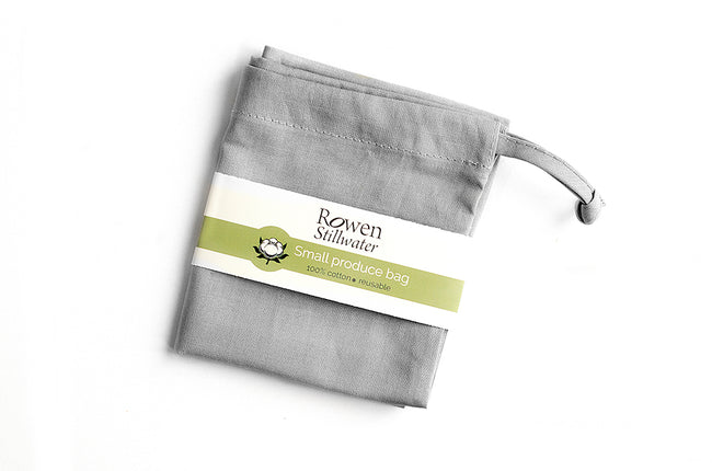 Small cotton storage bag in Grey