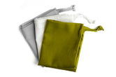 3 Pack small cotton storage bag in mixed colours