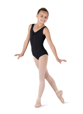 Black Leotard for children studying classical ballet with a dress code. Santa Cruz Dance supply serves Aptos, Scotts Valley, Santa Cruz, Capitola and
