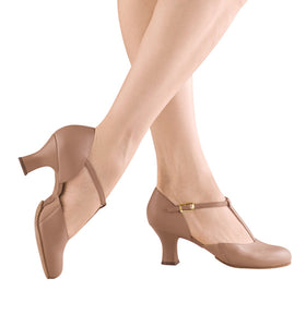 Tan T-Strap Character Shoe
