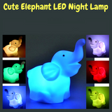Cute Elephant 7 Color LED Night Lamp - FREE SHIPPING!!