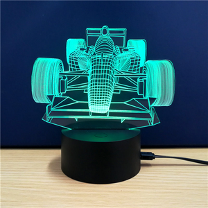 3-D LED Indy Car Table Lamp - 7 Changeable Colors
