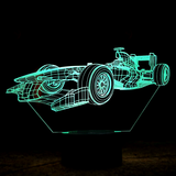 3-D LED F1 Table Lamp - 7 Changeable Colors