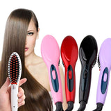 2-in-1 Ceramic Heat Hair Straightening Brush and Styler