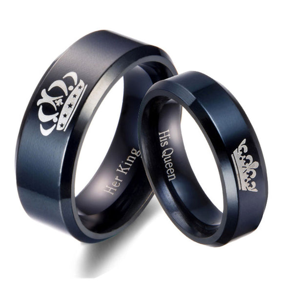 King & Queen Ring Set