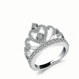 "Stunning Princess ""Heart"" Crown Ring"