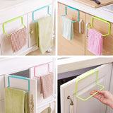 "Kitchen Cabinet ""Over The Door"" Hanging Towel Rack"