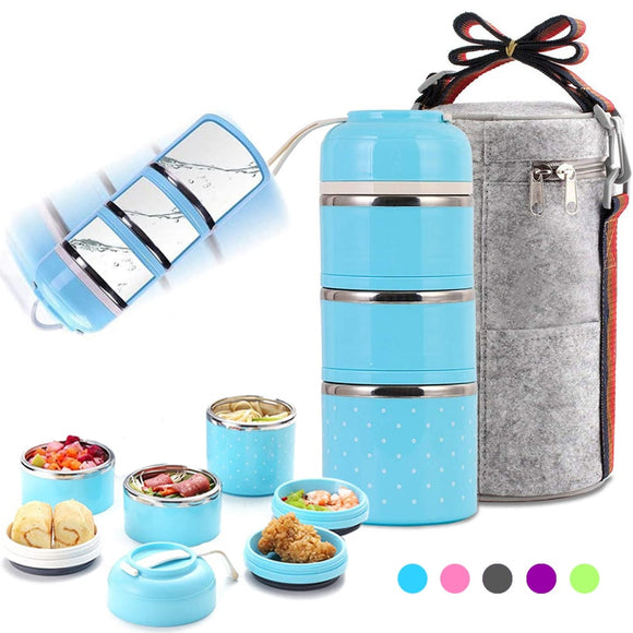 Multi-Layered Leak-Proof Thermal Lunchbox